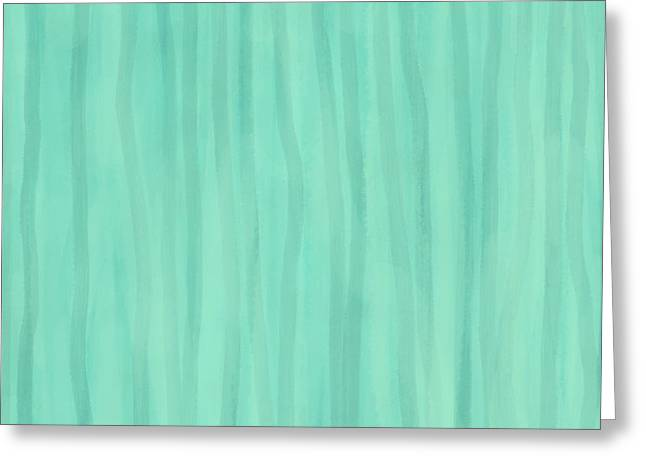 Mint Green Lines Greeting Card