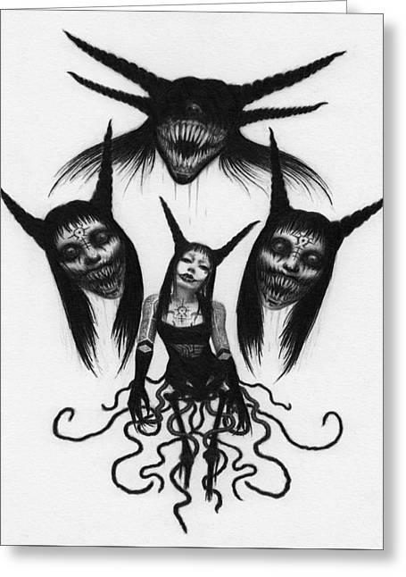 Miss Carnivorous - Artwork Greeting Card