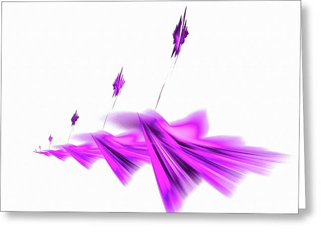 Missile Command Purple Greeting Card