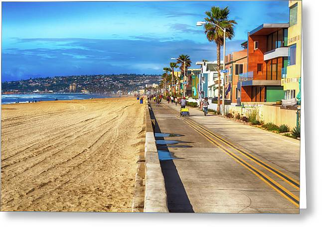 Mission Beach Boardwalk Greeting Card