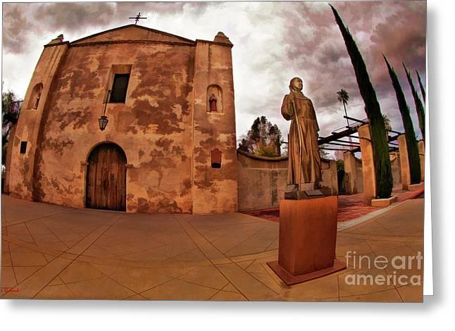 Mission San Gabriel San Gabriel Ca Greeting Card