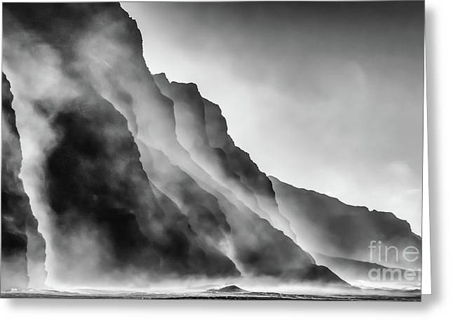 Mist On The Rocks Greeting Card