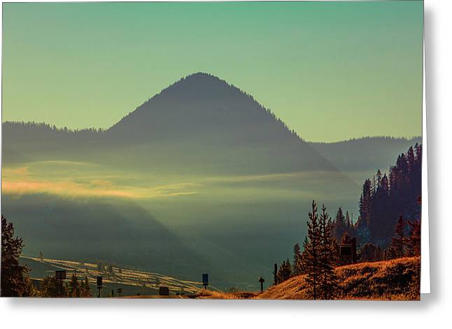 Greeting Card featuring the photograph Misty Mountain Morning by Pete Federico