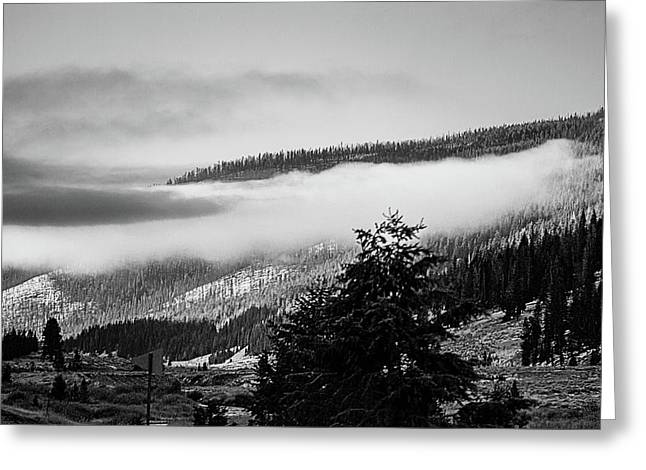 Greeting Card featuring the photograph Misty Mountain  by Pete Federico