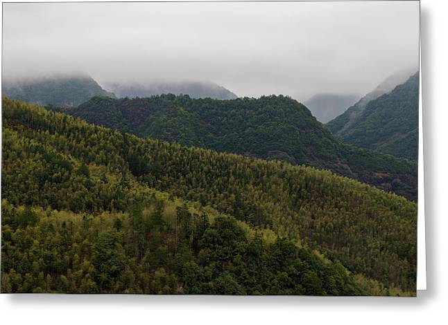 Misty Mountains I Greeting Card