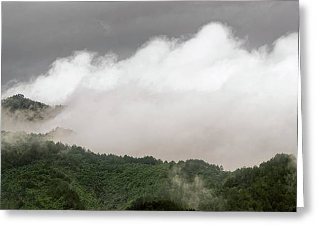 Misty Mountains II 3x1 Greeting Card