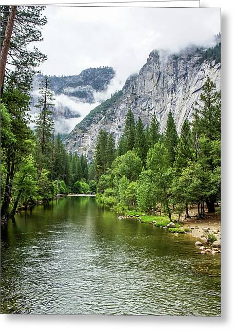 Misty Mountains, Yosemite Greeting Card