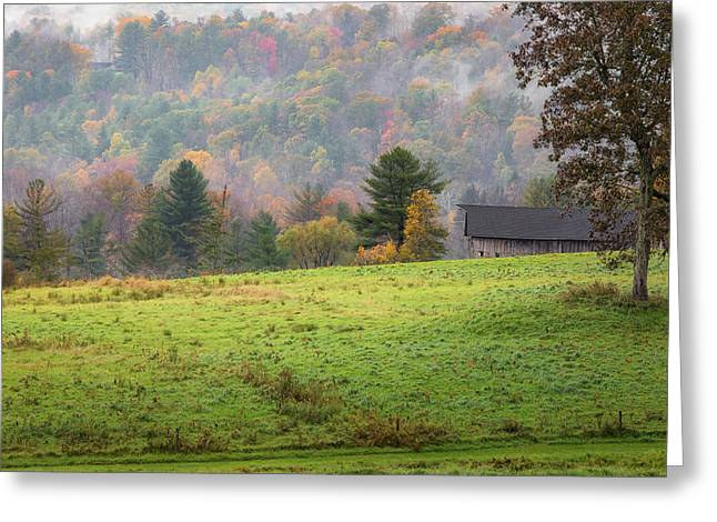 Greeting Card featuring the photograph Misty New England Autumn by Bill Wakeley
