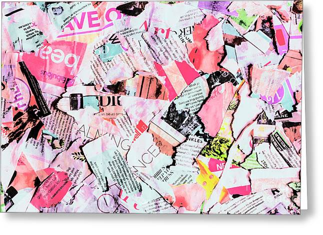 Mixed Media Messages Greeting Card