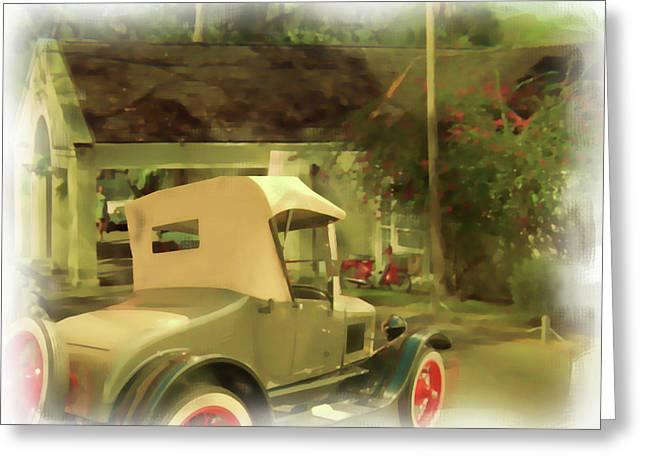 Model T In Barbados Greeting Card