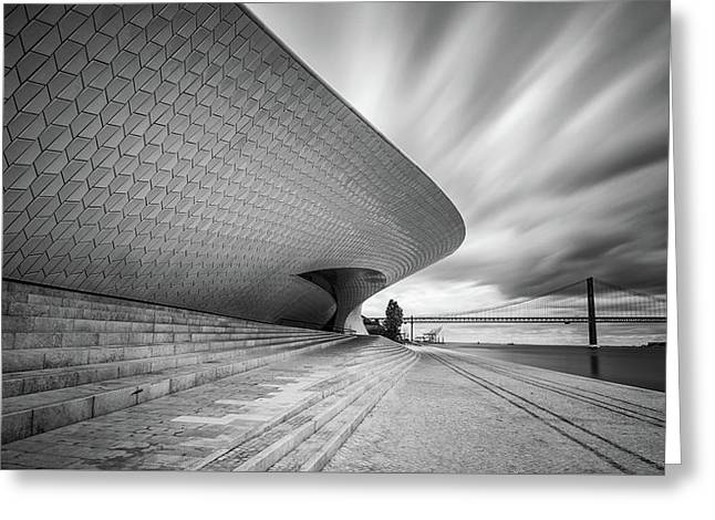 Greeting Card featuring the photograph Modern Architectural Details by Michalakis Ppalis
