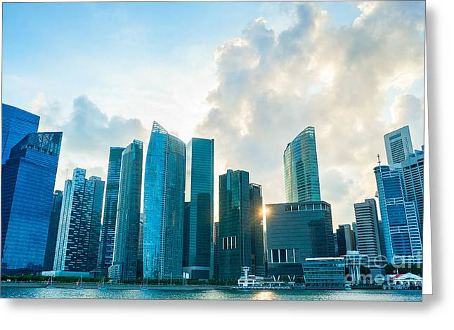 Modern Architecture Of Singapore Greeting Card