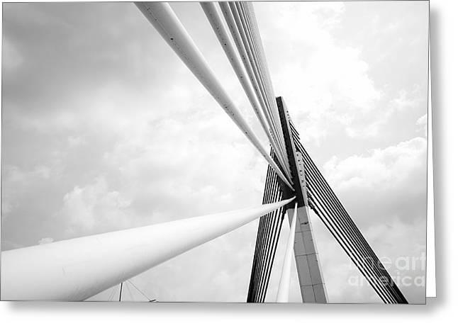 Modern Bridge Architecture At Putrajaya Greeting Card