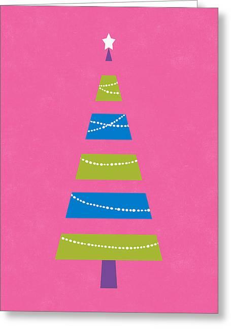 Greeting Card featuring the digital art Modern Glam Christmas Tree 2- Art By Linda Woods by Linda Woods
