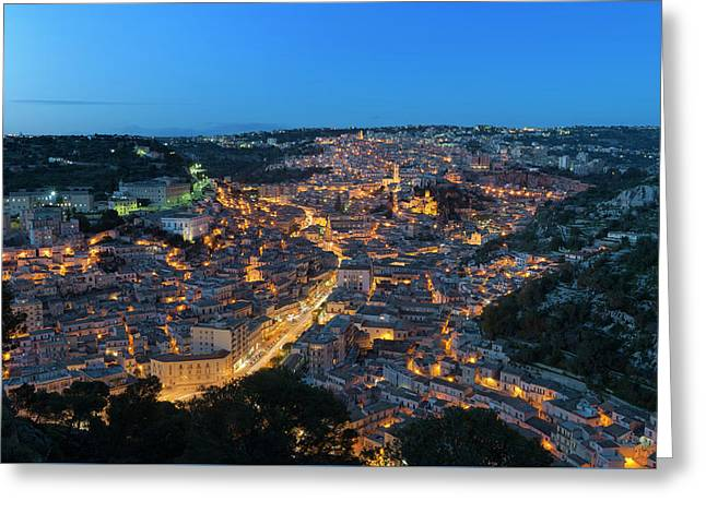 Greeting Card featuring the photograph Modica, Sicily by Mirko Chessari