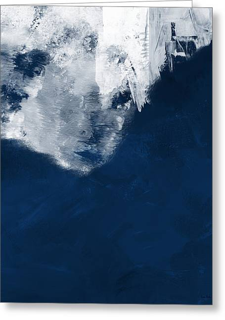 Moment In Blue- Art By Linda Woods Greeting Card