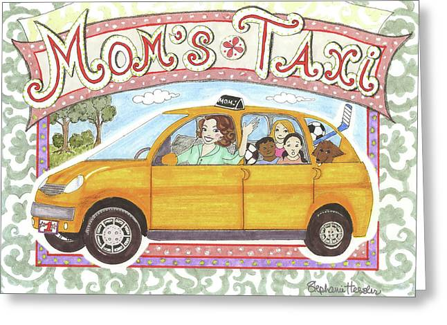 Mom's Taxi Greeting Card