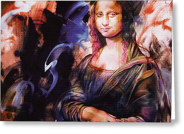 Mona Lisa Art  Greeting Card
