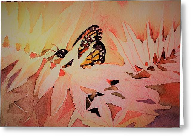 Monarch In Autumn Greeting Card