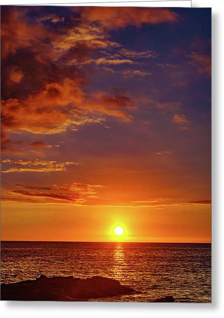 Monday Sunset Greeting Card