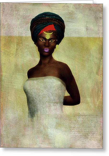 Greeting Card featuring the digital art Monique by Jan Keteleer