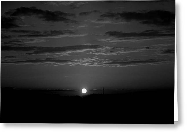 Greeting Card featuring the photograph Monochrome Sunrise by Bee-Bee Deigner