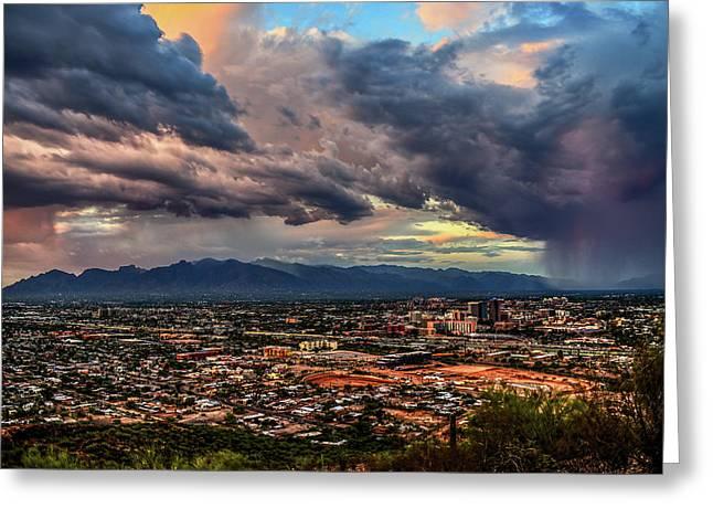 Monsoon Hits Tucson Greeting Card
