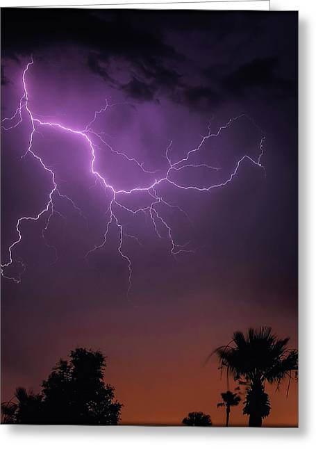 Monsoon Sunset 2019 Greeting Card