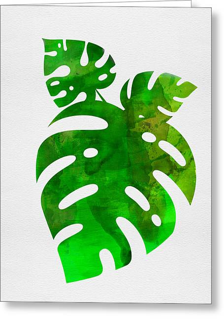 Monstera Leafs Greeting Card