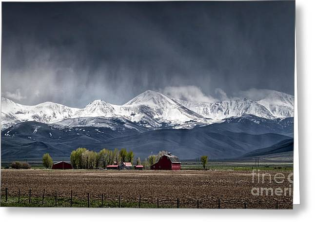 Greeting Card featuring the photograph Montana Homestead by Brad Allen Fine Art
