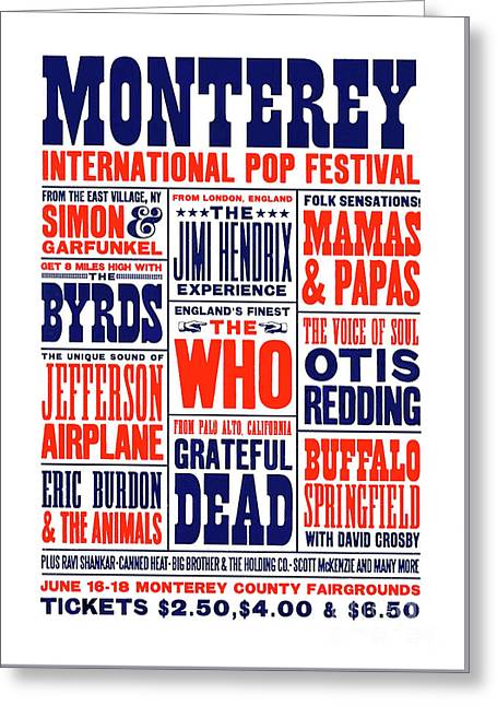 Monterey Pop Festival, Poster Greeting Card