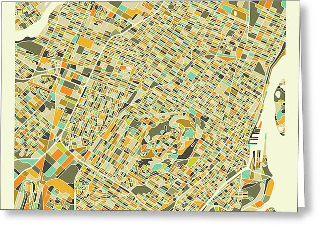 Montreal Map 1 Greeting Card
