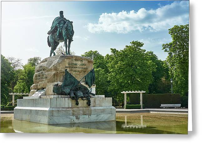 Monument To General Arsenio Martinez Campos In Madrid, Spain Greeting Card