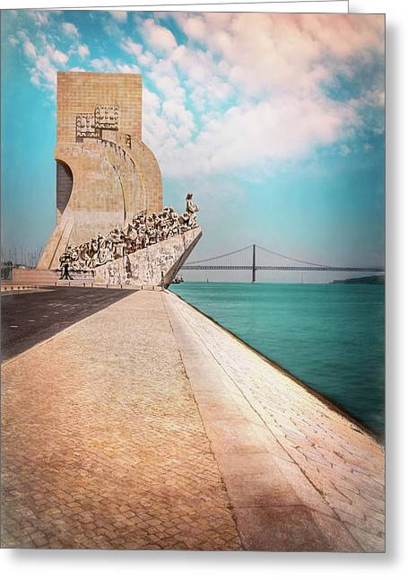 Monument To The Discoveries Belem Lisbon Portugal Greeting Card