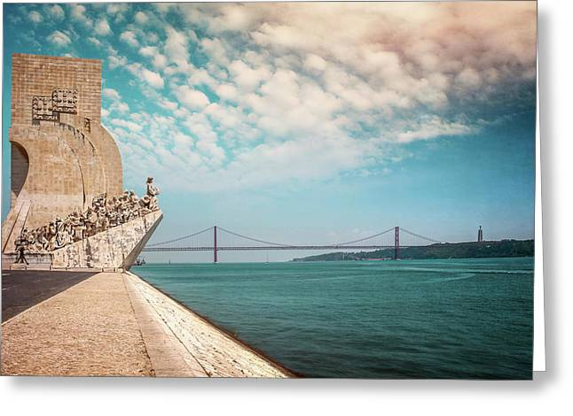 Monument To The Discoveries Lisbon Portugal Greeting Card
