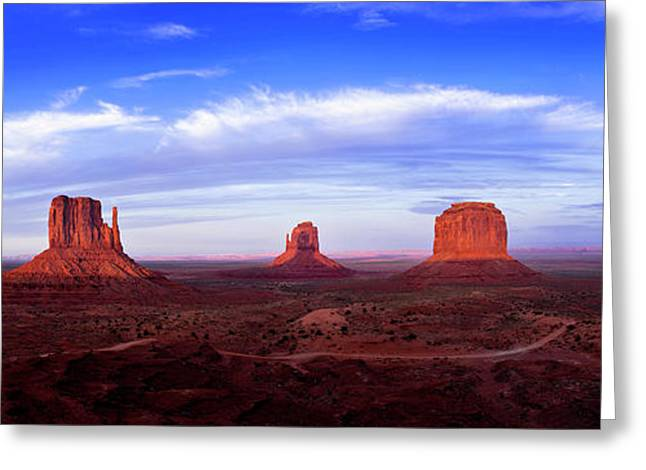 Monument Valley At Dusk Greeting Card