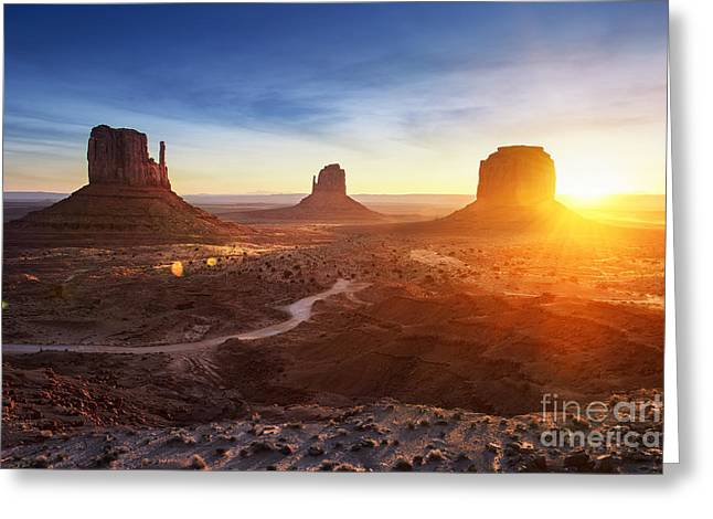 Monument Valley At Sunrise Greeting Card