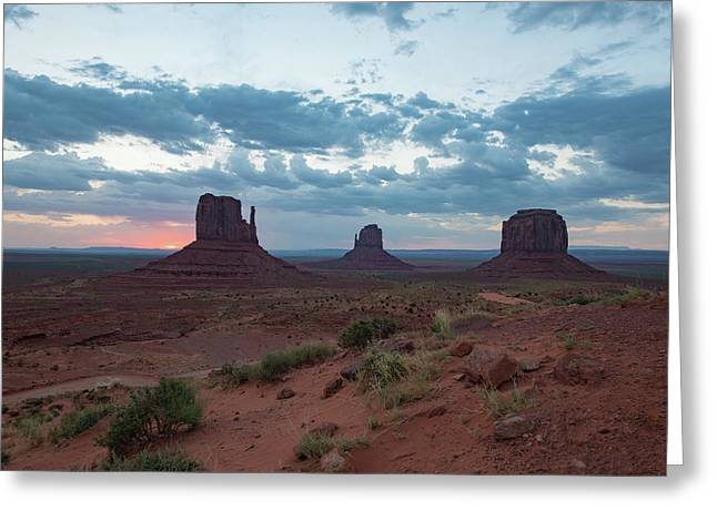 Monument Valley Before Sunrise Greeting Card