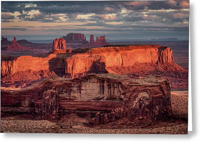 Monument Valley From Hunt's Mesa 3 Greeting Card