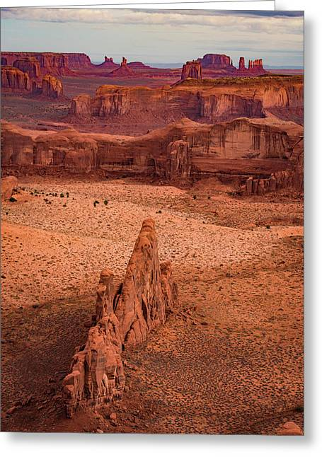 Monument Valley From Hunt's Mesa Greeting Card