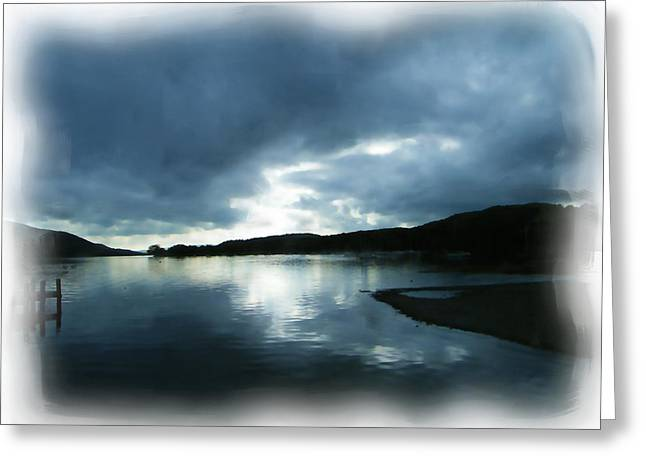 Moody Sky Painting Greeting Card