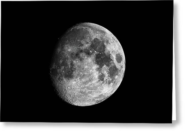 Greeting Card featuring the photograph Moon by Grant Glendinning