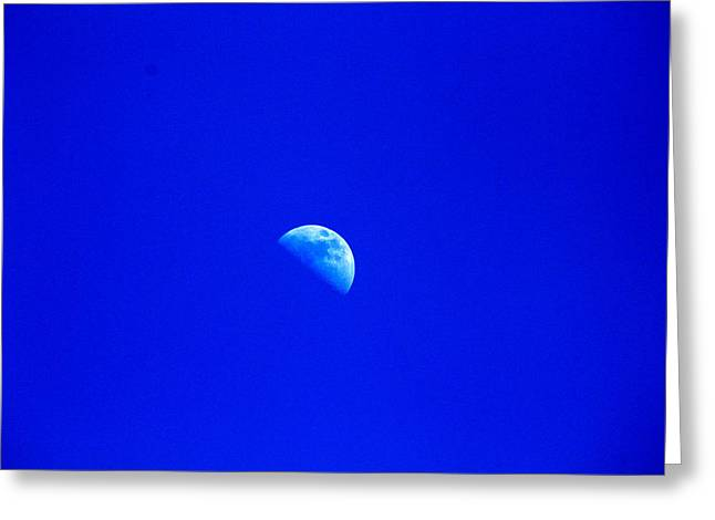 Moon In A Daytime Sky Greeting Card