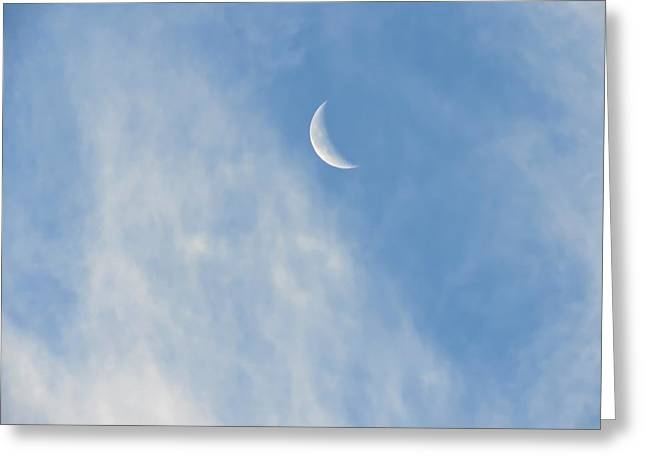 Moon In Libra - Crescent Farewell Greeting Card
