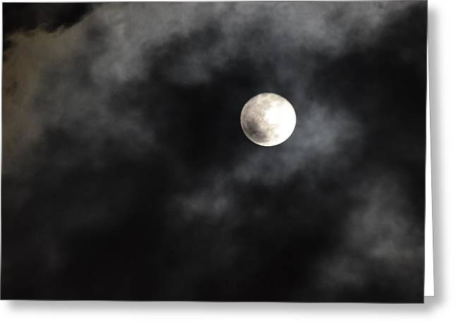 Moon In The Still Of The Night Greeting Card