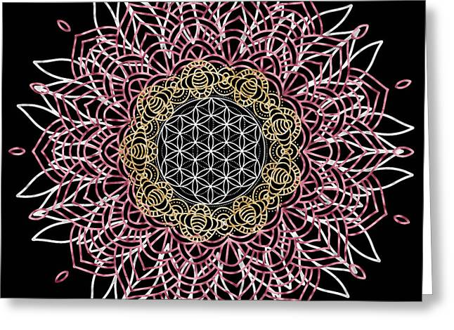 Moon Mandala Greeting Card