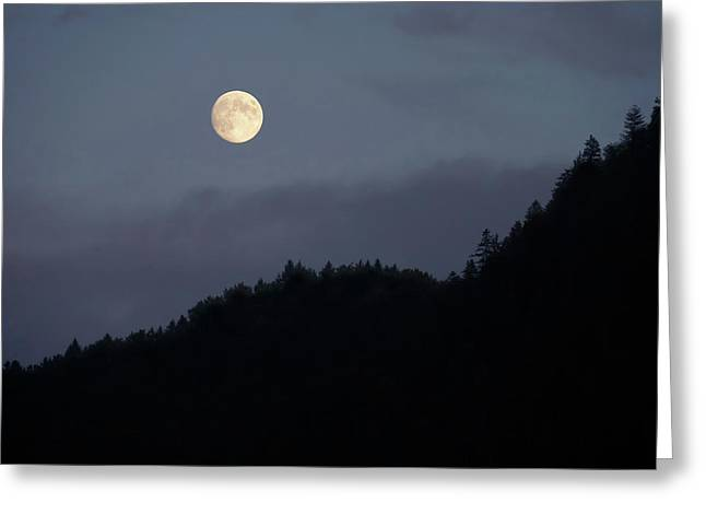 Moon Over Hill Greeting Card