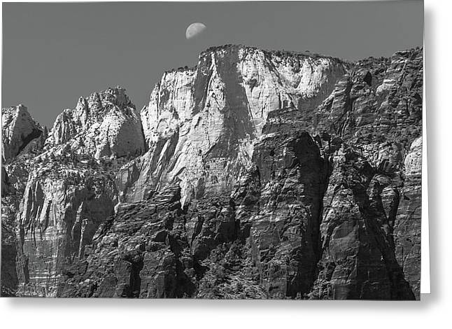 Moon Over Zion Greeting Card by Joseph Smith