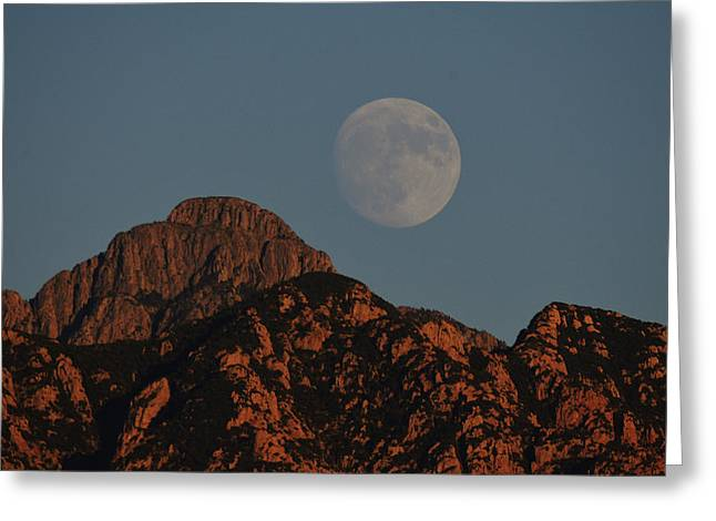 Moon Rise Over Mount Wrightson  Greeting Card