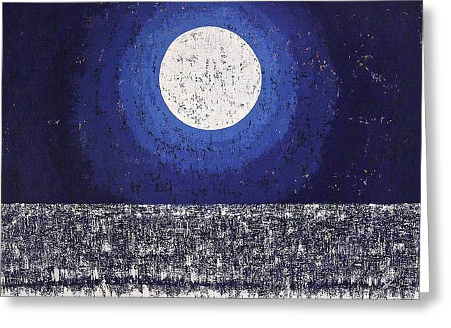 Moonbathing Original Painting Greeting Card